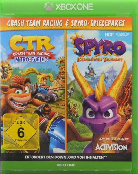 Spyro Reignited Trilogy + Crash Team Racing Nitro Fueled Bundle XBOX ONE